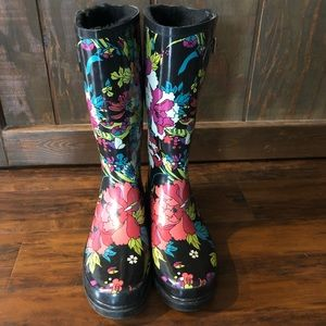 Sakroots high lined floral rain boot - 10